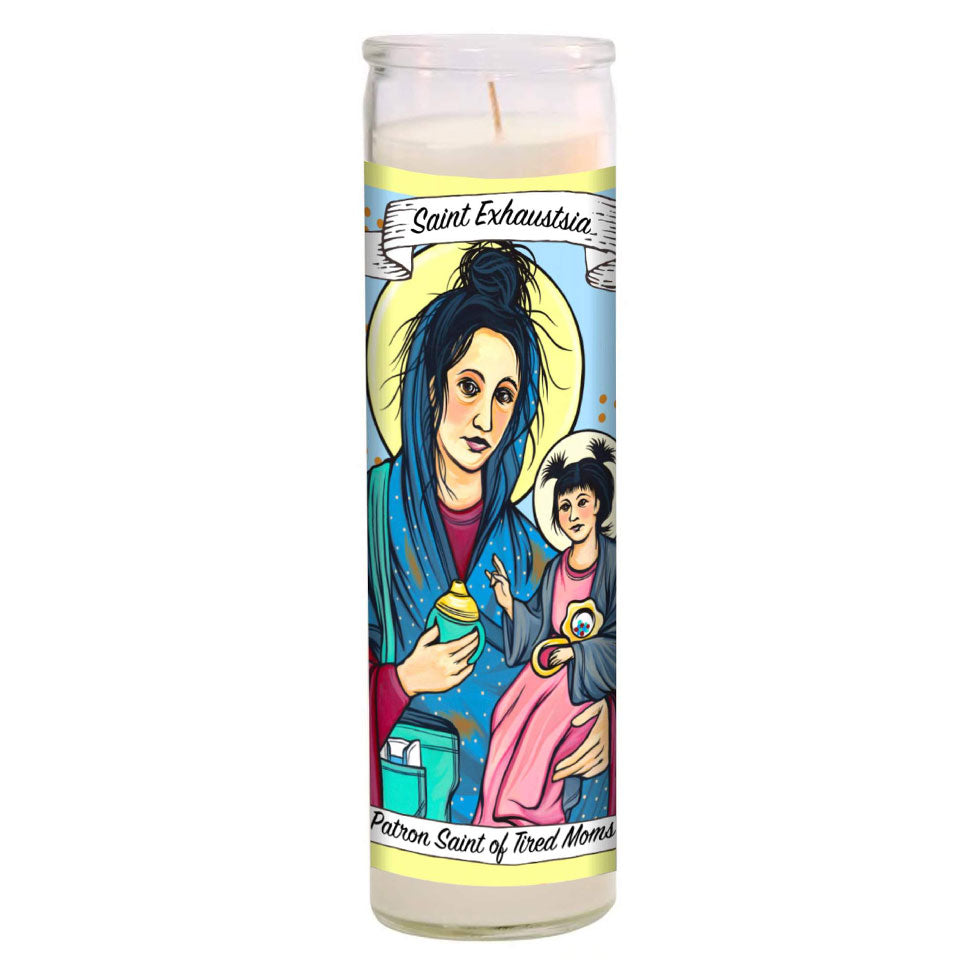 Saint Exhaustia Candle