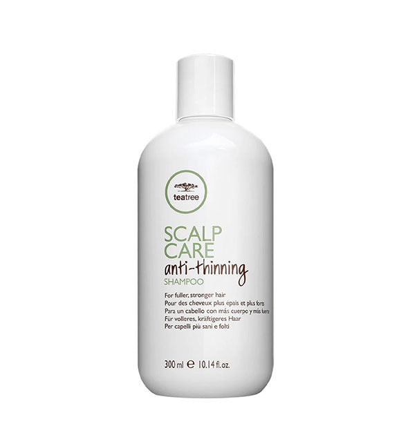 10.14 ounce bottle of Paul Mitchell Tea Tree Scalp Care Anti-Thinning Shampoo