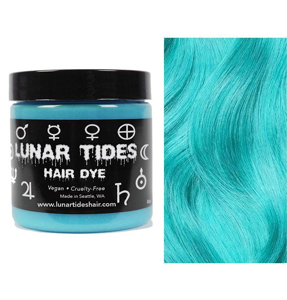 semi permanent hair dye in sea witch turquoise