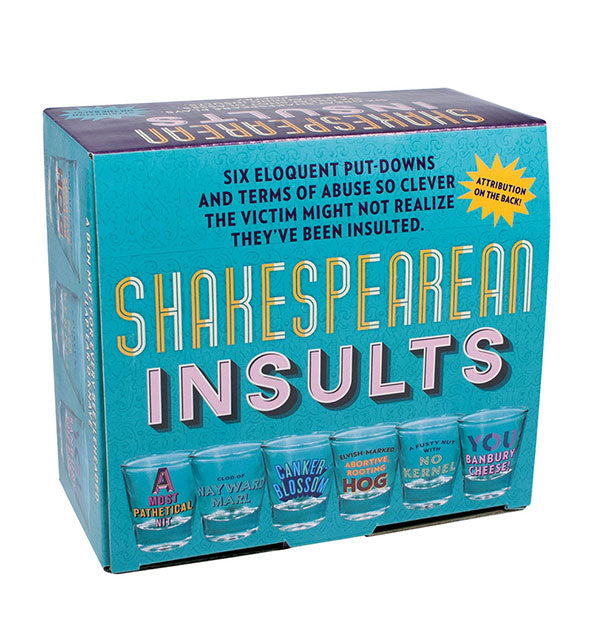 The Unemployed Philosophers Guild - Shakespearean Insults Shot Glass Set (4460800868422)