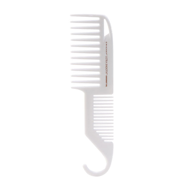 White Ultra Smooth Coconut Oil Comb Shower with Hook