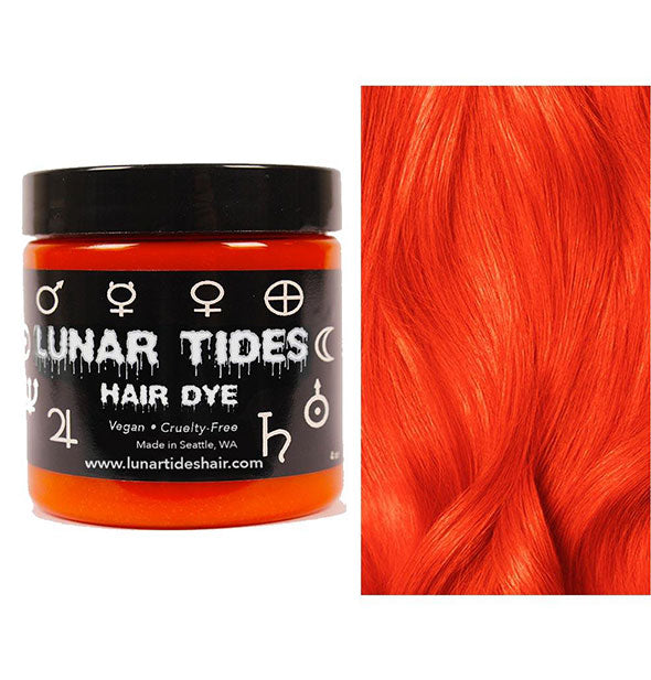 semi permanent hair dye in siam orange