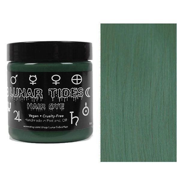 semi permanent hair dye in smoky green