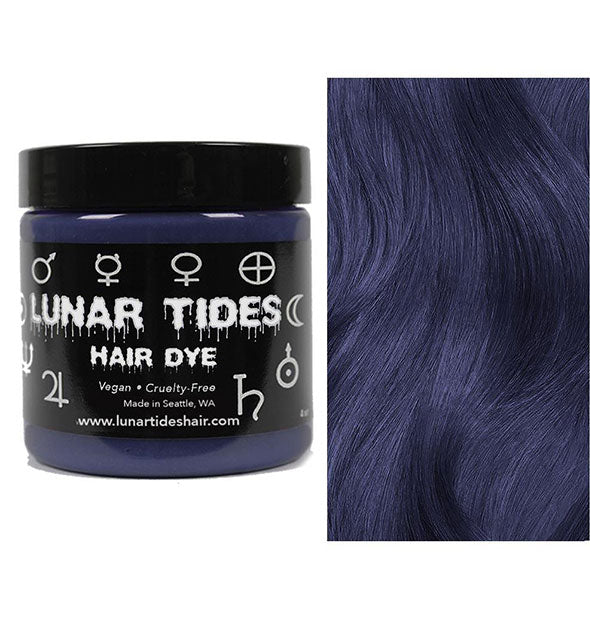 semi permanent hair dye in smoky navy