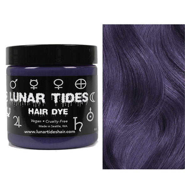 semi permanent hair dye in smokey purple