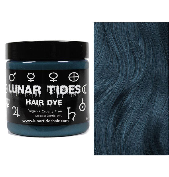 semi permanent hair dye in smoky teal