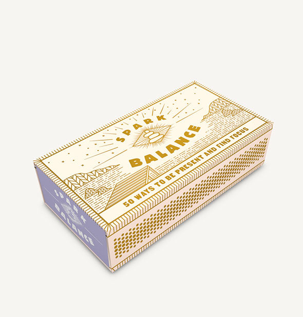 Decorative white and gold box of Spark Balance faux matchsticks