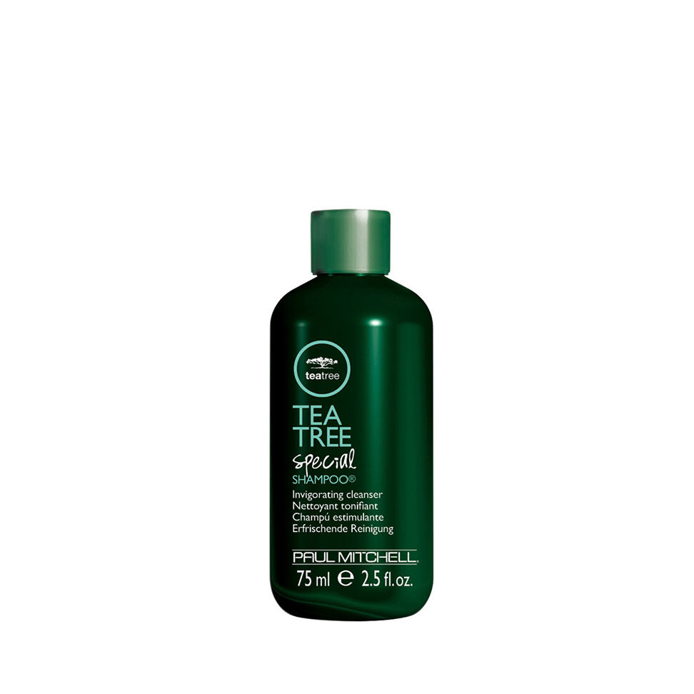 The TRAVEL SIZE  of Paul Mitchell Tea Tree Special VEGAN Shampoo