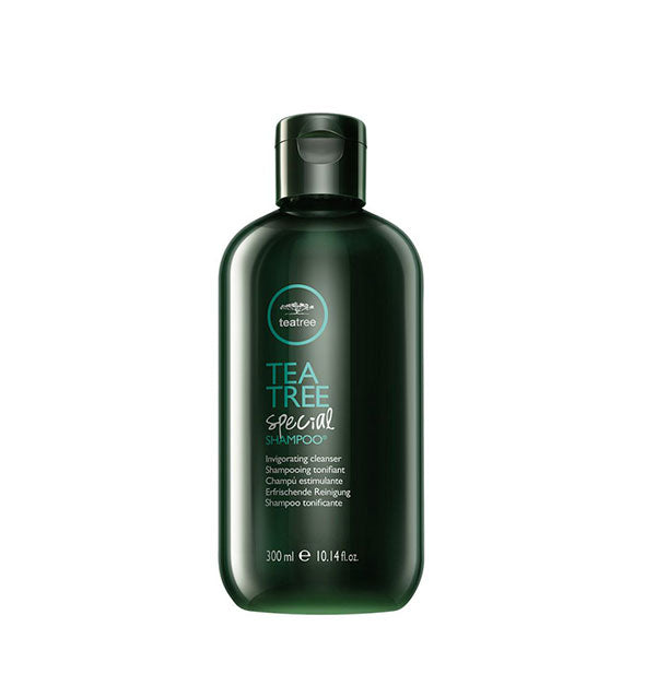 A bottle of Paul Mitchell Tea Tree Special VEGAN Shampoo 10.14 fl OZ