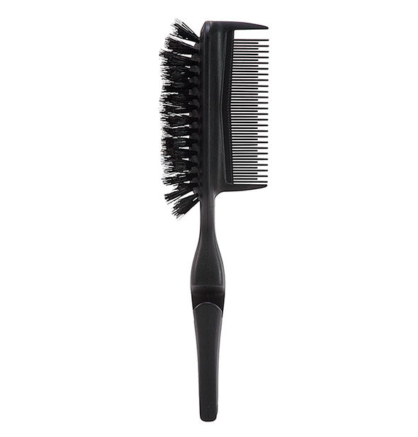 Black Static Free Pro Brush & Comb with Ponytail Elastic Holder