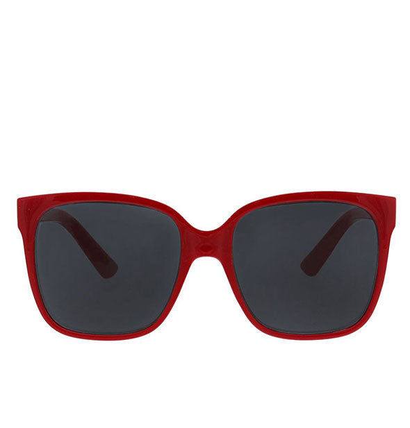 Front view of Peepers Palisades Sunglasses in Red.