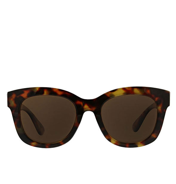 Front view of Peepers Center Stage Reader Sunglasses in Tortoise.