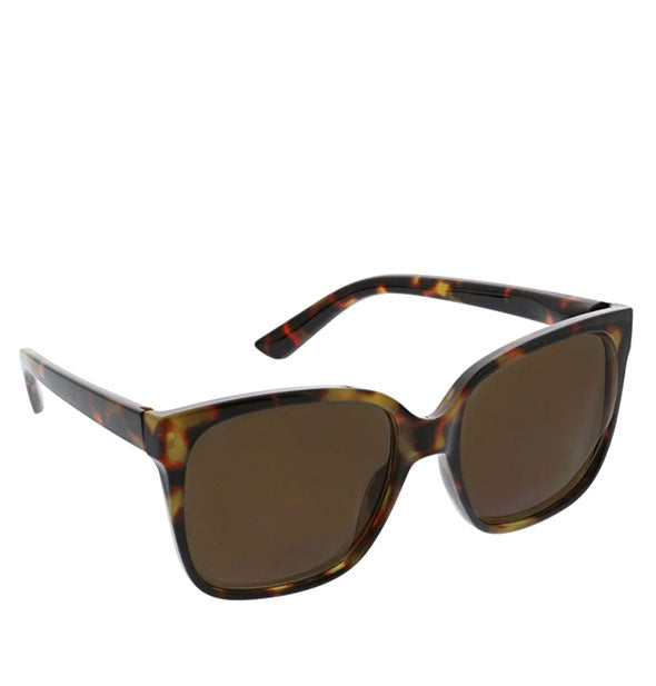 Angled view of Peepers Palisades Sunglasses in Tortoise.