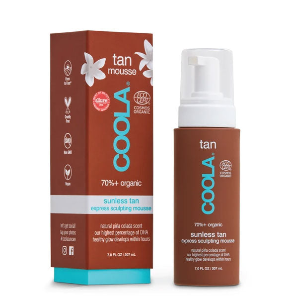 Organic Sunless Tan Express Sculpting Mousse