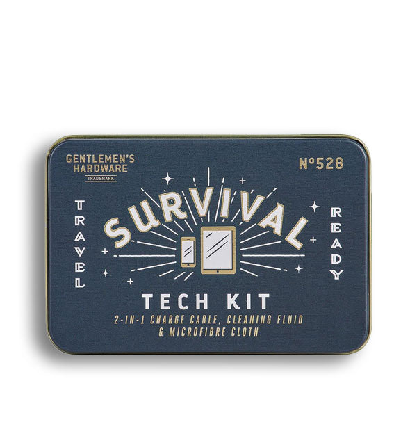 Dark blue Survival Tech Kit tin