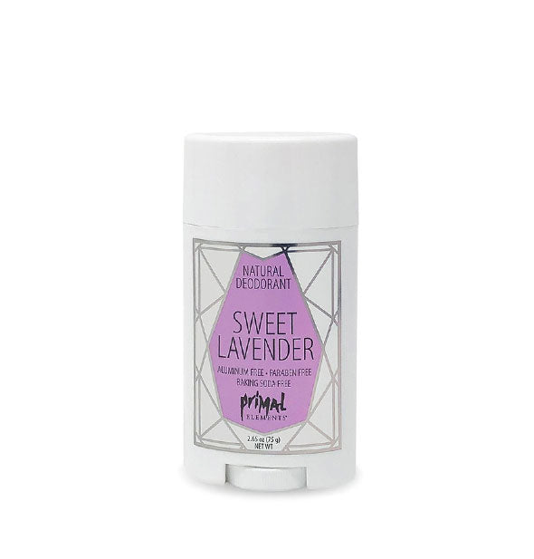 Aluminum-Paraben-Soy Free SWEET LAVENDER Natural Deodorant 2.65 Oz by Primal Elements