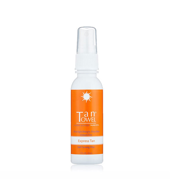 A bottle of TanTowel - Tanning Mist - express tan