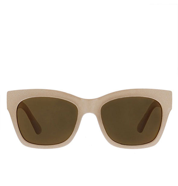 Front view of Peepers Shine On Sunglasses in Taupe.