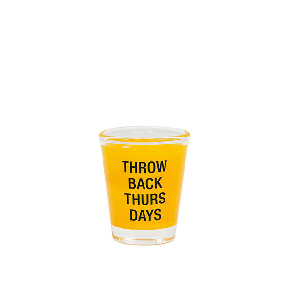 Yellow with Black Throw Back Thursdays Shot Glass