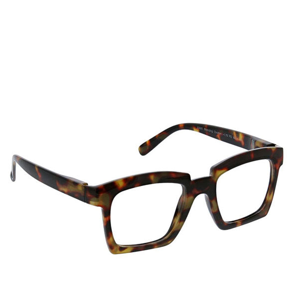 Angled view of Peepers Standing Ovation Readers in Tortoise.
