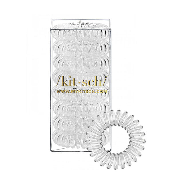 8 Hair Coils tangle free telephone like cords in clear