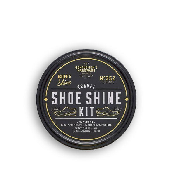 Round Travel Show Shine Kit tin