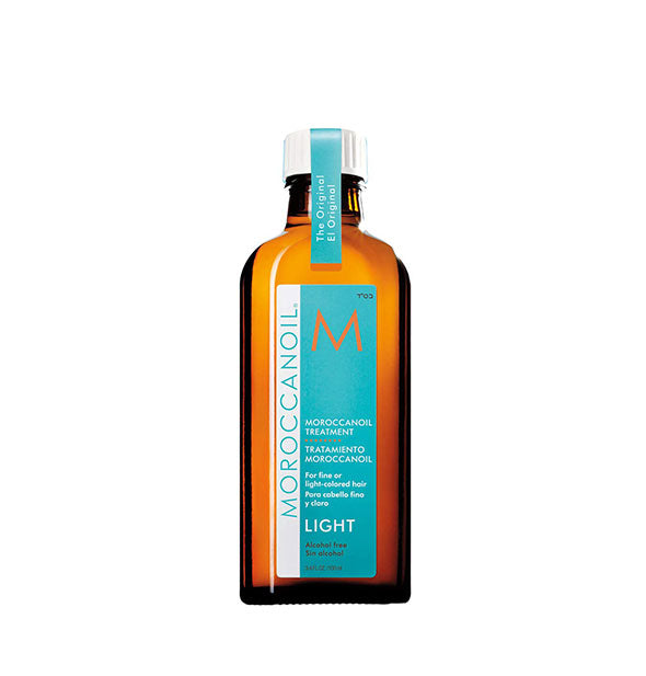3.4 ounce bottle of Moroccanoil Light Treatment Oil