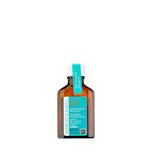 0.85 ounce bottle of Moroccanoil Light Treatment Oil
