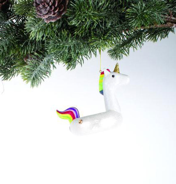 Unicorn Pool Floaty Christmas Ornament