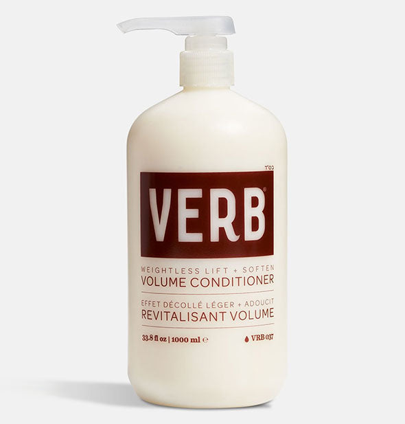 Liter bottle of Verb Volume Conditioner with pump nozzle