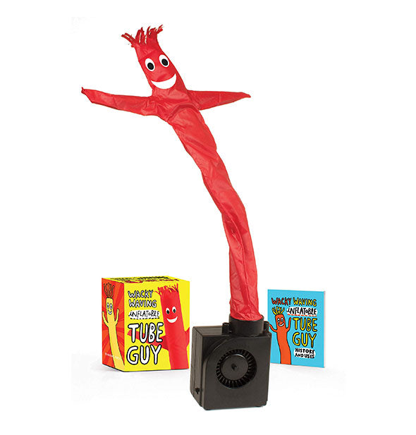 Contents of the Wacky Waving Inflatable Tube Guy kit