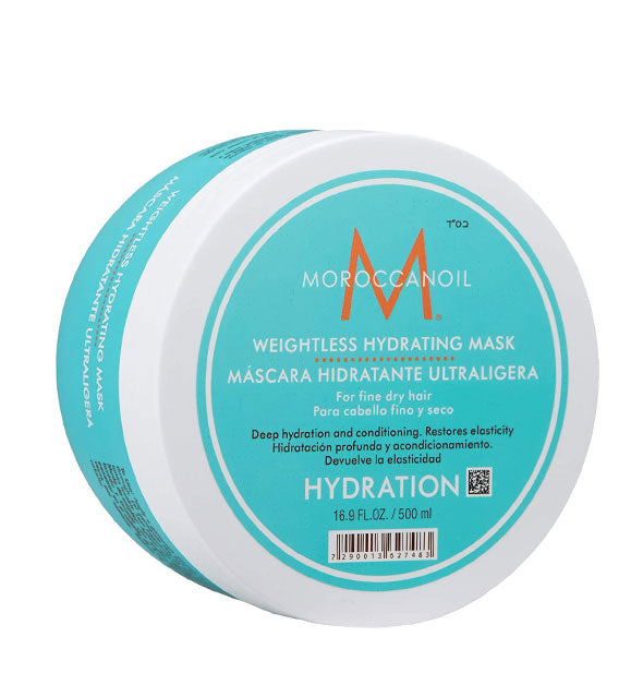 16.9 ounce tub of Moroccanoil Weightless Hydrating Mask