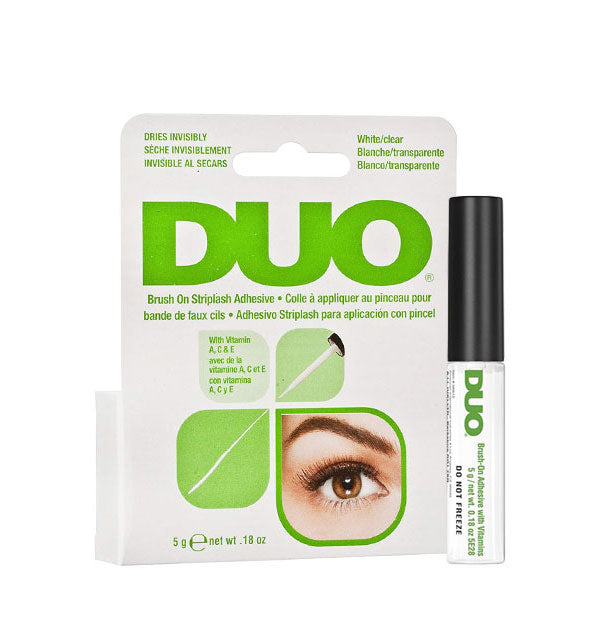 White Clear Duo Brush On Striplash Adhesive