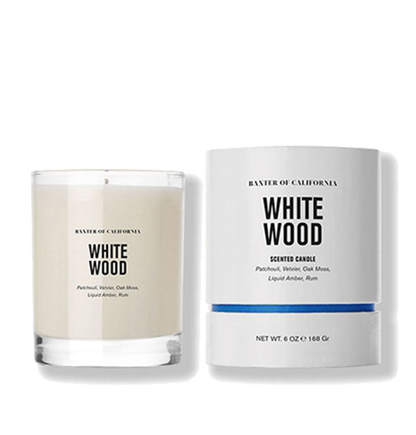 White Wood Coconut and Soy Wax Scented Candle
