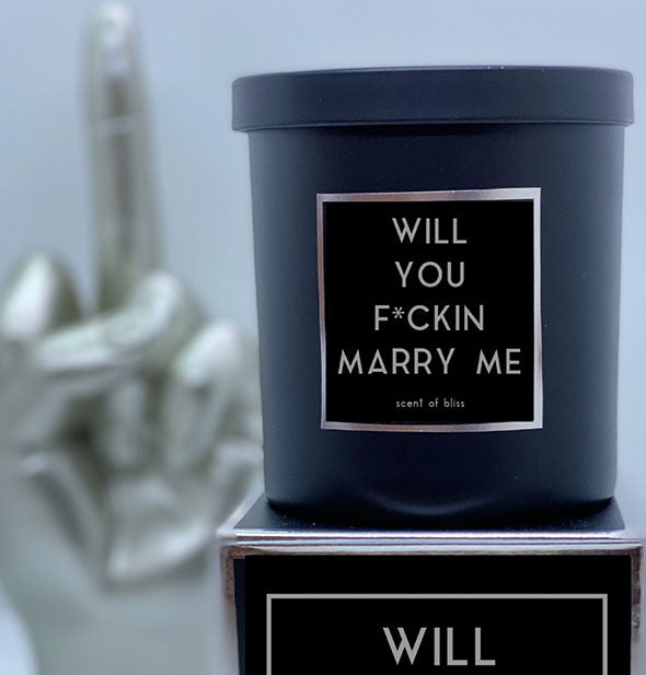 Will You F*ckin Marry Me Candle - Matte Black - by Rude Dude Candle Co