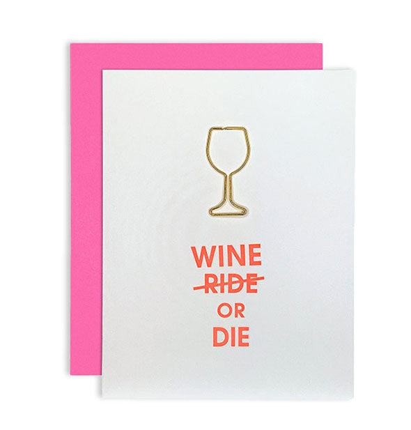 Chez Gagne - Wine Or Die Paper Clip Card (4460789760070)