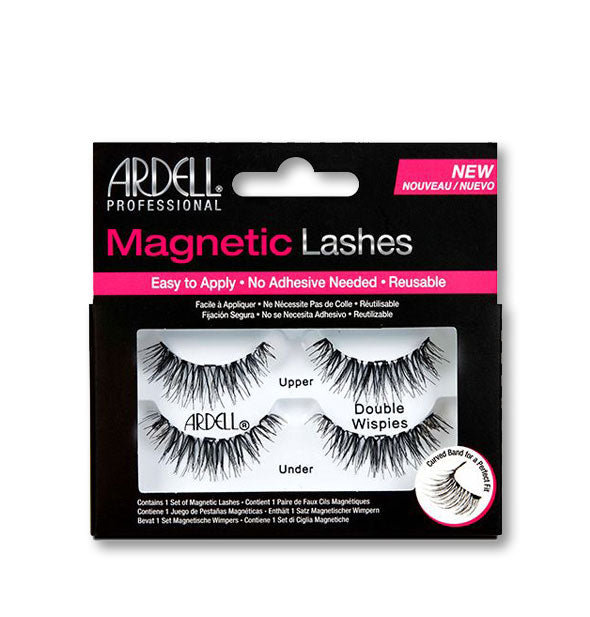 Black Magnetic Reusable Lashes Wispies