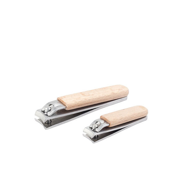 Beechwood and stainless steel nail clippers