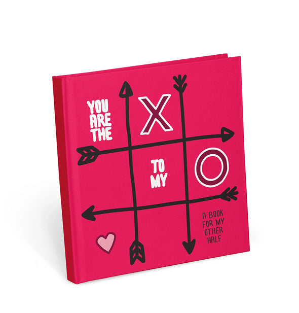 Red cover of You Are the X to My O book with tic-tac-toe design
