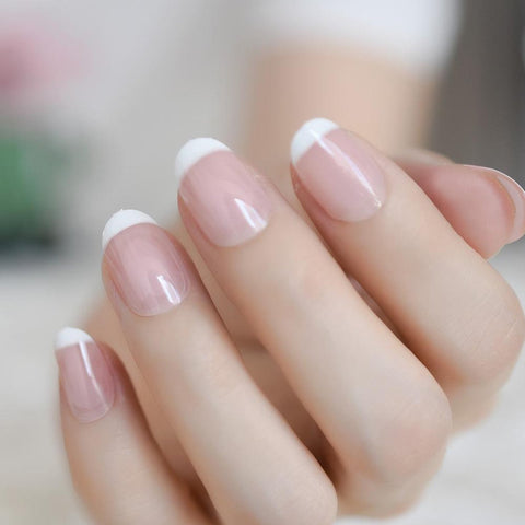 Dip powder french manicure color