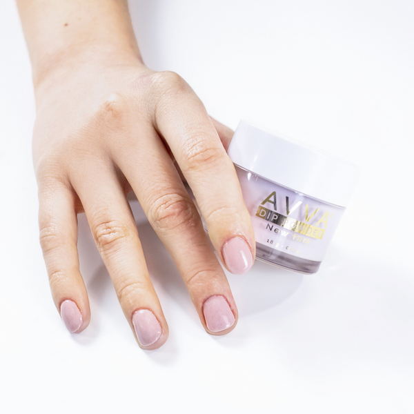 How to use AVVA Dip Powder Kit for a Nude Manicure 12