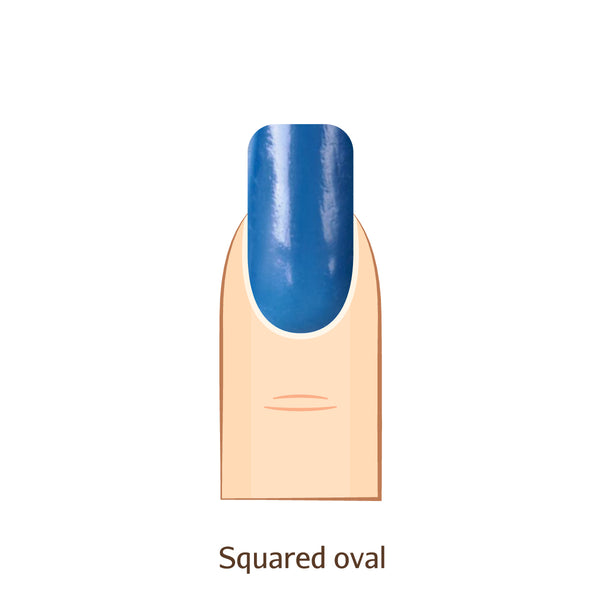Squared Oval nails
