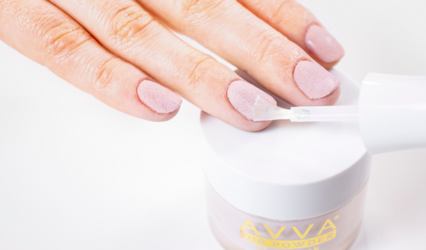 How to use AVVA Dip Powder Kit for a Nude Manicure 09