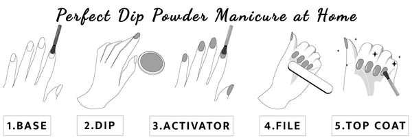 How to apply dip powder manicure at home