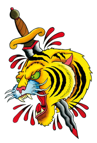 Tiger with dagger