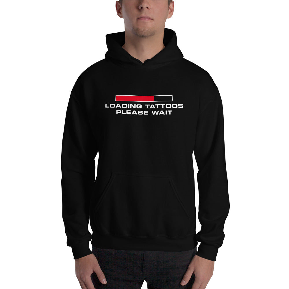 Loading tattoos (Red) Hooded Sweatshirt