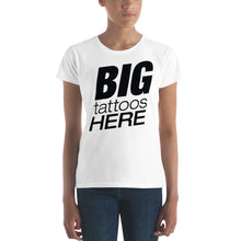 B I G T A T T O O S (Black) Women's short sleeve t-shirt