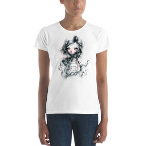 Girl and bunny Women's short sleeve t-shirt