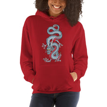 Light Blue Japanese Dragon Hooded Sweatshirt