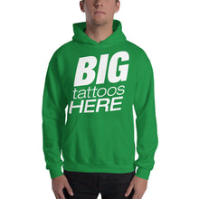 B I G T A T T O O S (White) Hooded Sweatshirt